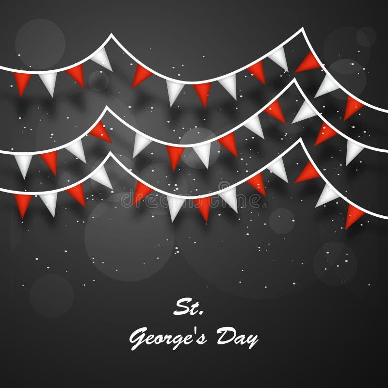 Fundo do dia do ` s de St George ilustração royalty free