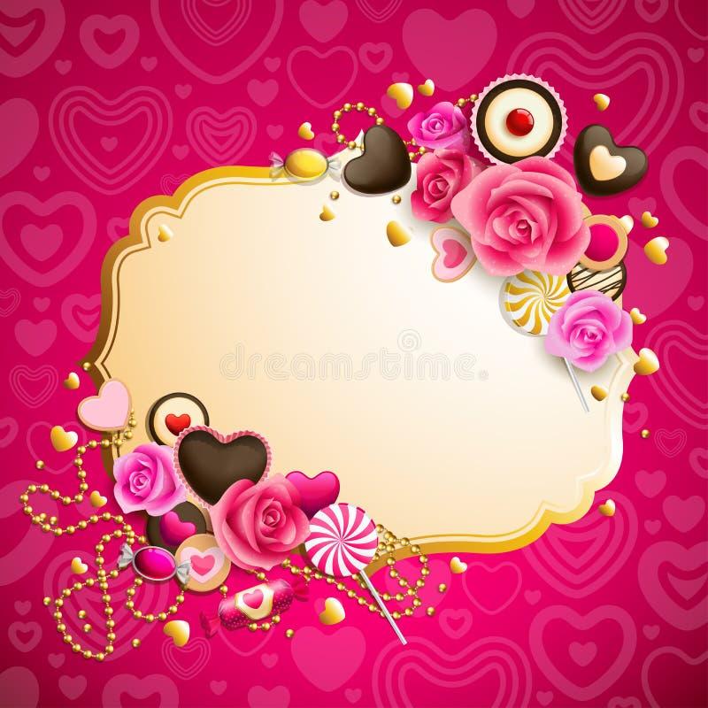 Fundo do dia do `s do Valentim ilustração stock