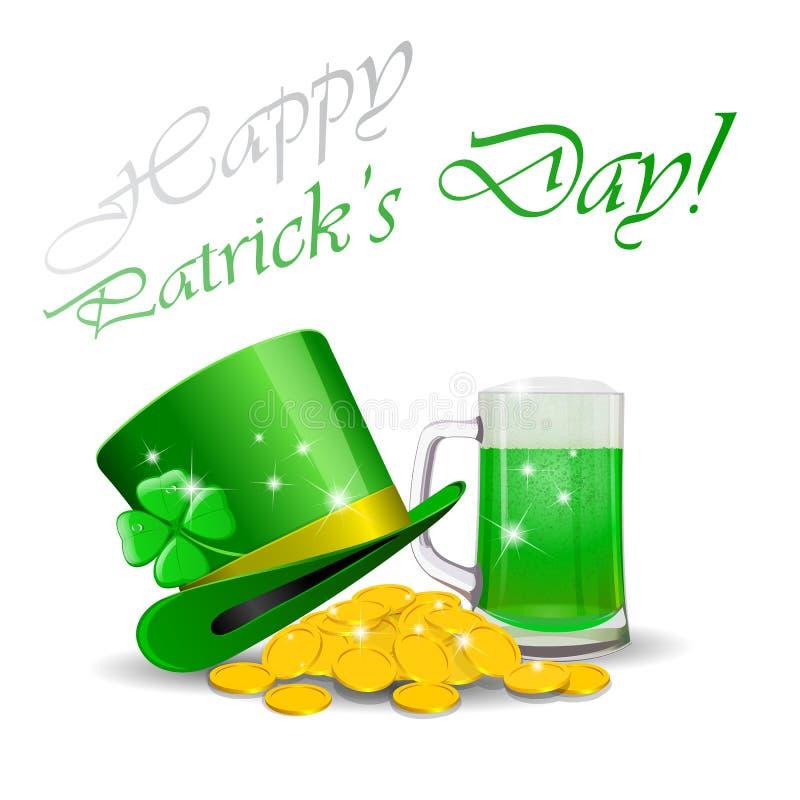 Fundo do dia do St Patrick ilustração royalty free