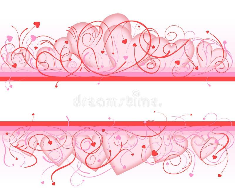 Fundo do dia do Valentim ilustração royalty free
