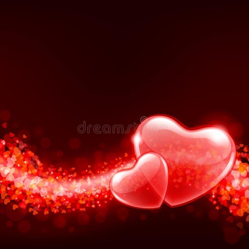 Fundo do dia do Valentim com sumário ele ilustração royalty free
