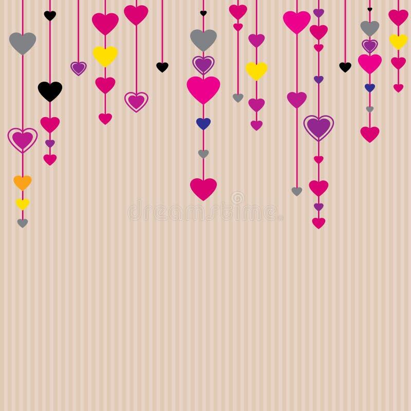 Fundo do dia do Valentim de Saint ilustração stock