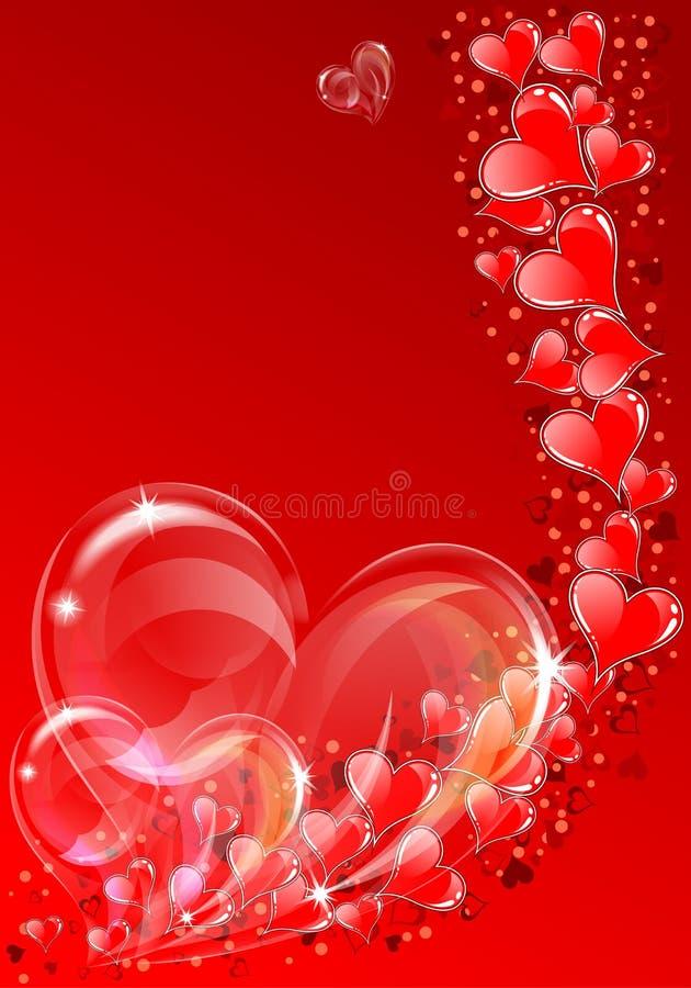 Fundo do dia dos Valentim ilustração stock