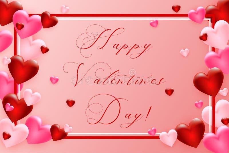 Fundo do dia dos Valentim com coração Molde para seu projeto do dia de Valentim Vetor ilustração do vetor