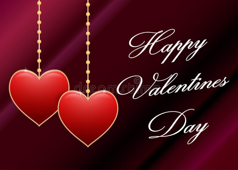 Fundo do dia dos Valentim com coração Vetor ilustração do vetor