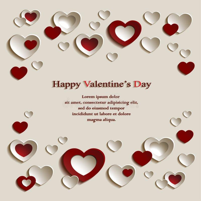 Fundo do dia do ` s do Valentim ilustração stock