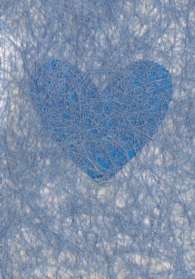 Fundo do dia do Valentim Corações brancos e vermelhos no fundo azul pastel Conceito do dia dos Valentim Configura??o lisa, vista  ilustração do vetor