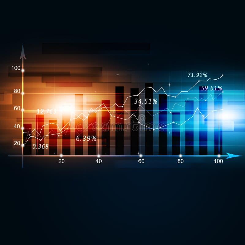 Fundo do diagrama da finança ilustração stock