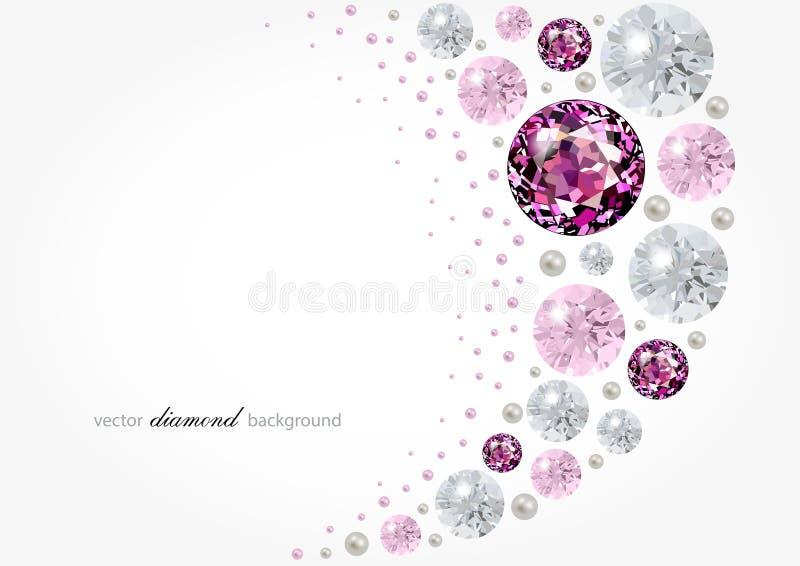 Fundo do diamante ilustração royalty free