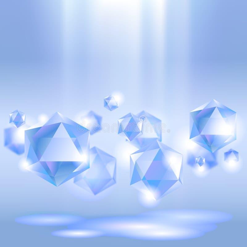 Fundo do diamante ilustração do vetor
