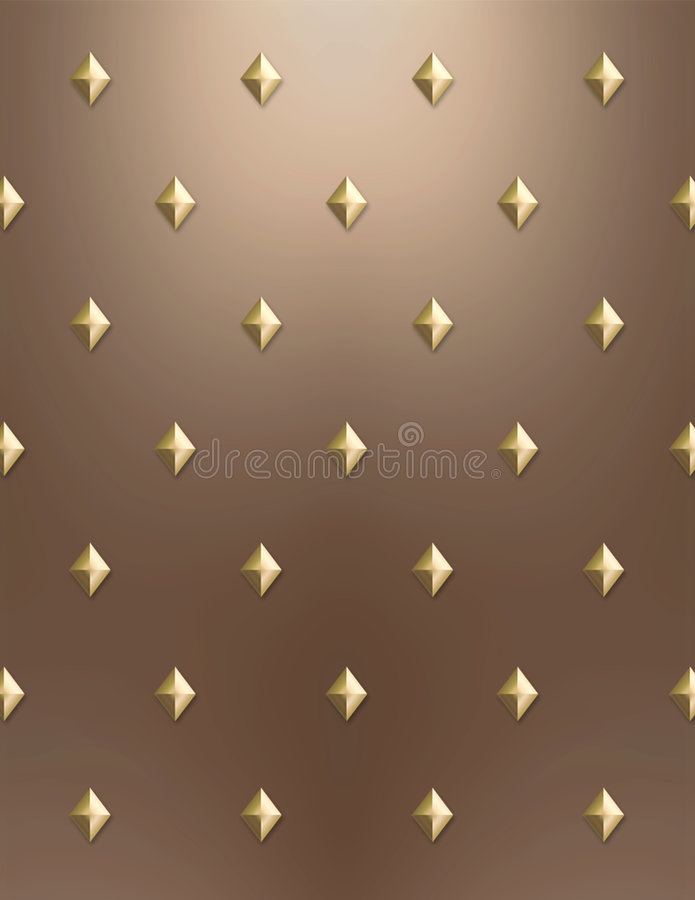 Fundo do diamante do ouro & do cobre ilustração stock