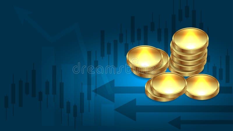 Fundo do dinheiro, do comércio e do negócio ilustração stock