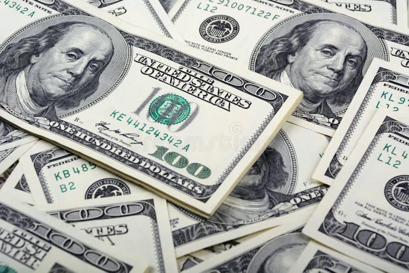 Fundo do dinheiro da cédula do dólar foto de stock royalty free