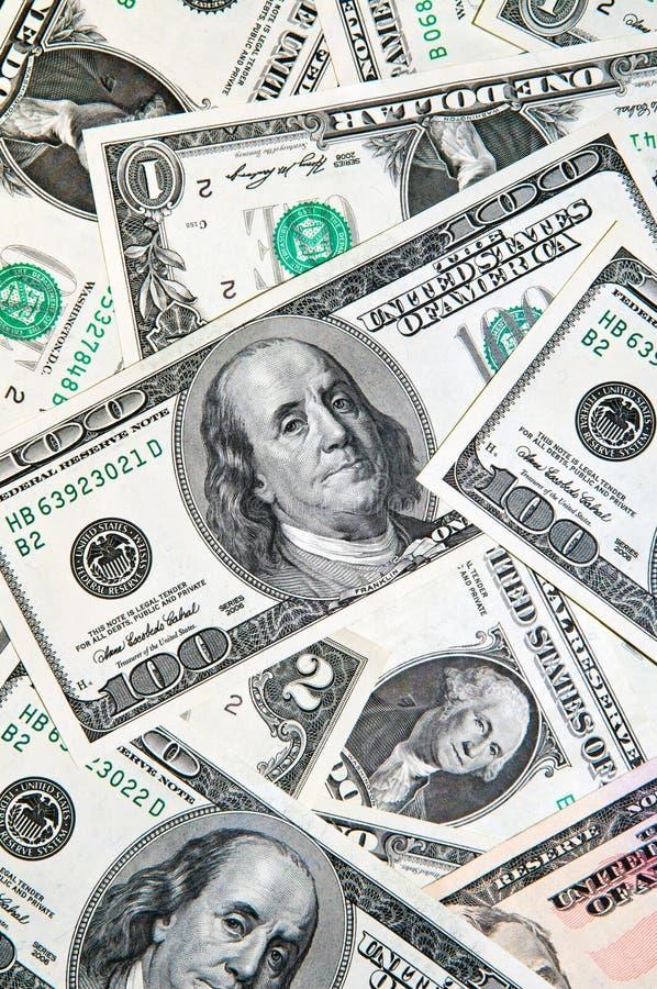 Fundo do dinheiro do dólar fotografia de stock