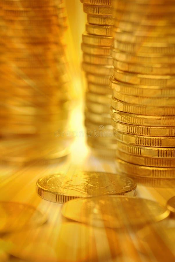 Fundo do dinheiro do ouro imagem de stock royalty free