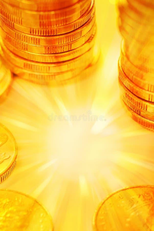 Fundo do dinheiro do ouro foto de stock royalty free