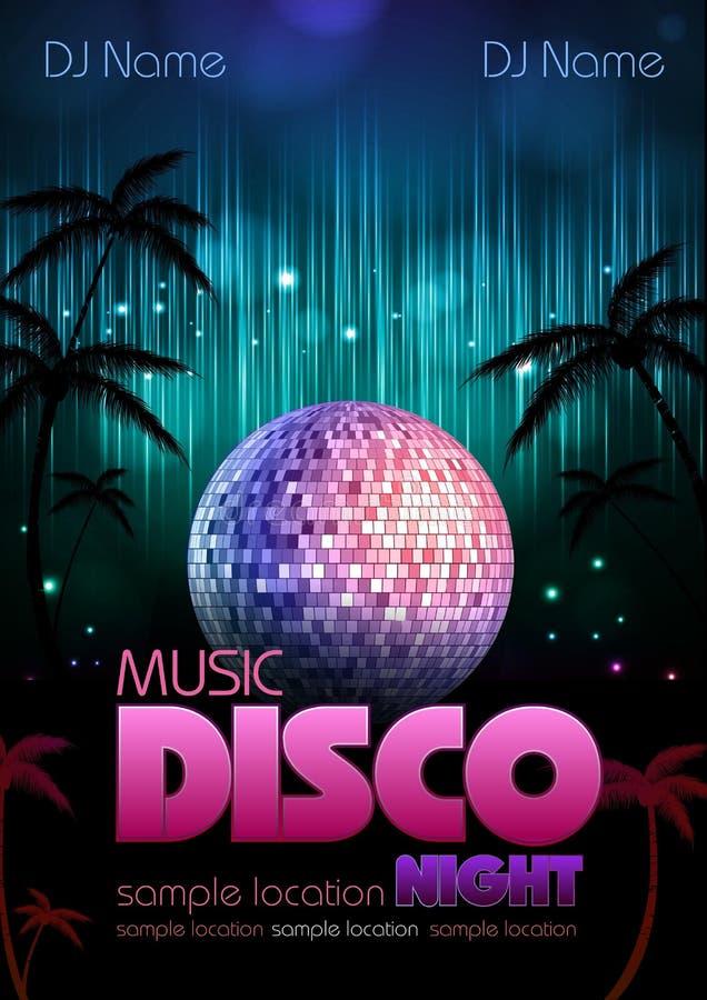 Fundo do disco. Cartaz do disco ilustração royalty free