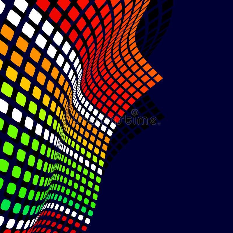 Fundo do disco com os pontos coloridos brilhantes Vetor ilustração stock