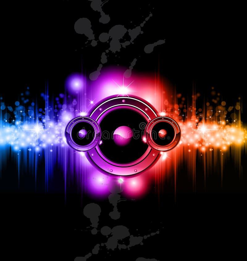 Fundo do disco da música da alta tecnologia ilustração stock