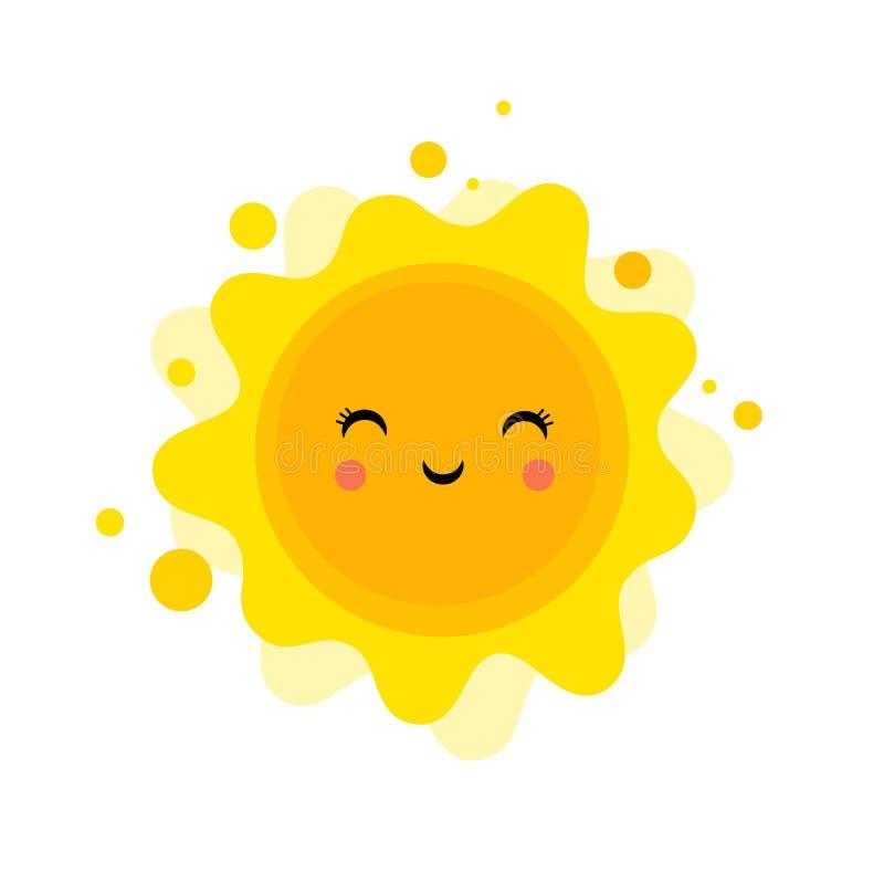 Fundo do divertimento do verão, ilustração do sol e projeto da bandeira Cartaz da venda ilustração do vetor