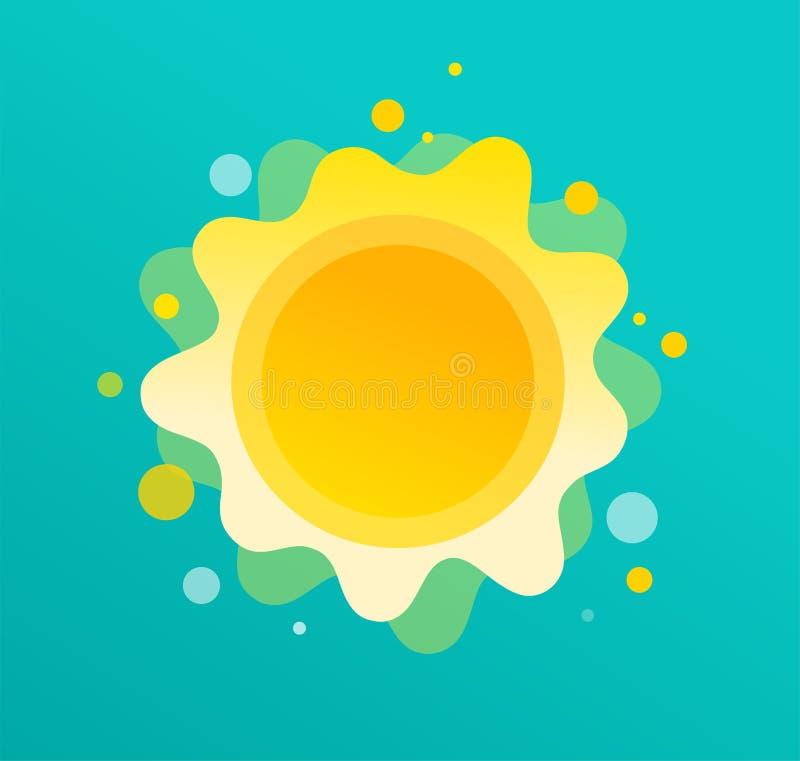 Fundo do divertimento do ver?o, ilustra??o do sol e projeto da bandeira Cartaz da venda ilustração do vetor