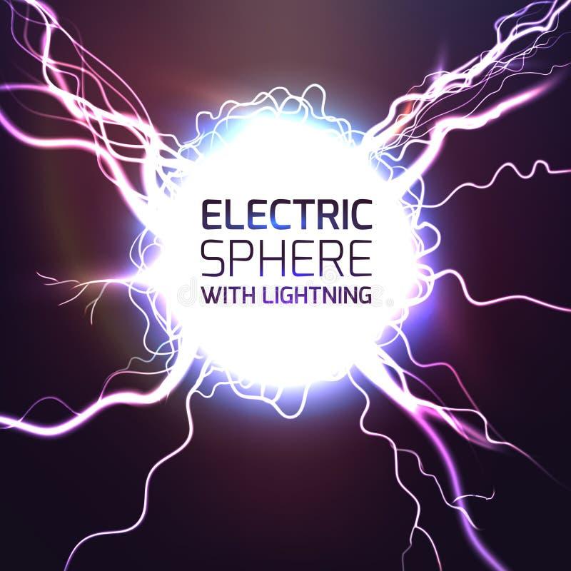 Fundo do efeito da luz da esfera de Elecktric ilustração royalty free