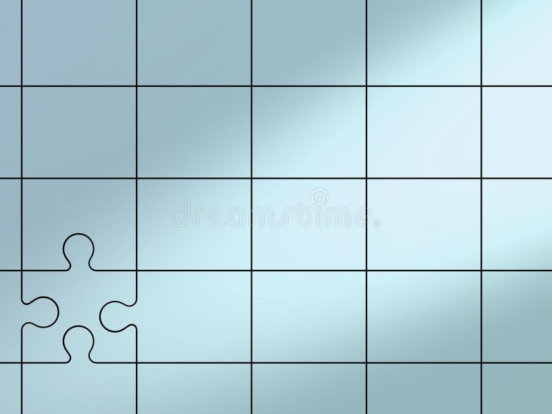 Fundo do enigma ilustração stock
