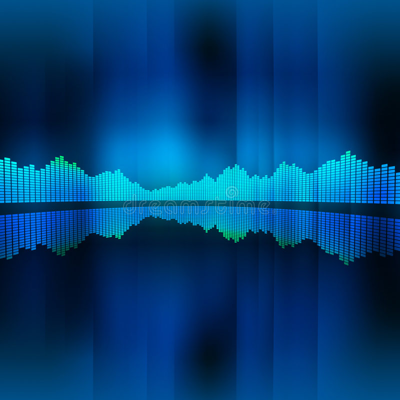 Fundo do equalizador da música ilustração do vetor
