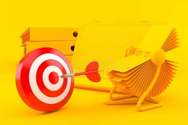 Fundo do escritório com bullseye ilustração stock