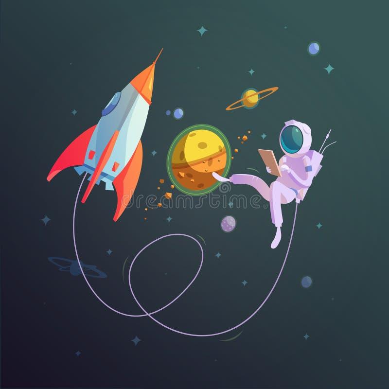 Fundo do espaço aberto ilustração stock