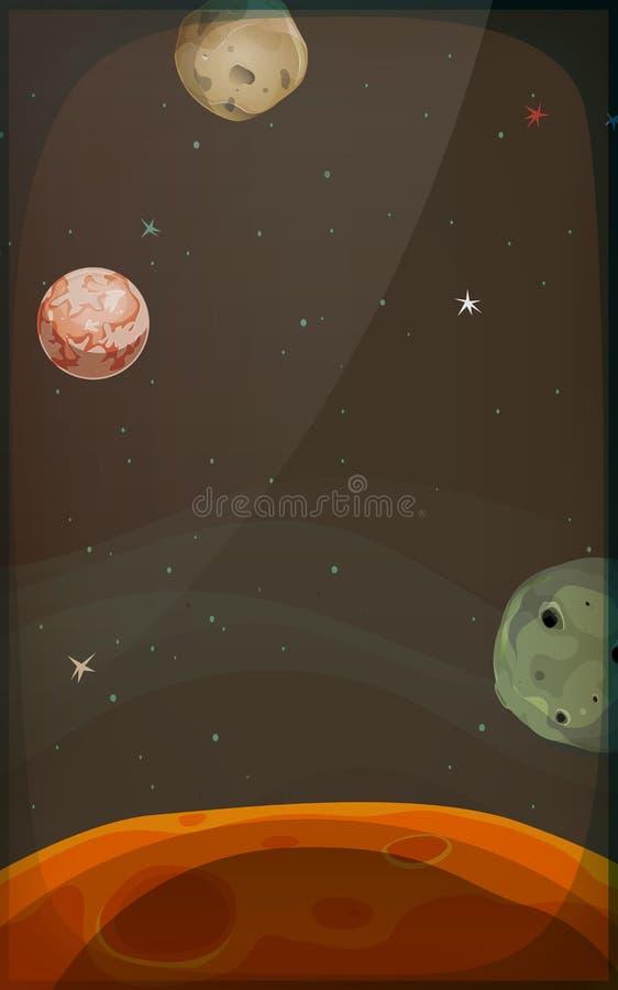 Fundo do espaço com planetas e estrelas para o móbil ilustração stock