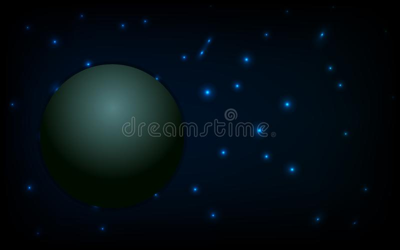 Fundo do espaço da estrela e paleta, vetor ilustração stock