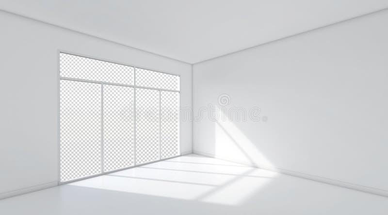 Fundo do espaço da sala branca ilustração stock