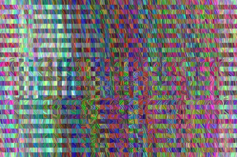 Fundo do espaço do pulso aleatório Erro velho da tela da tevê Projeto do sumário do ruído do pixel de Digitas Pulso aleatório da  ilustração do vetor