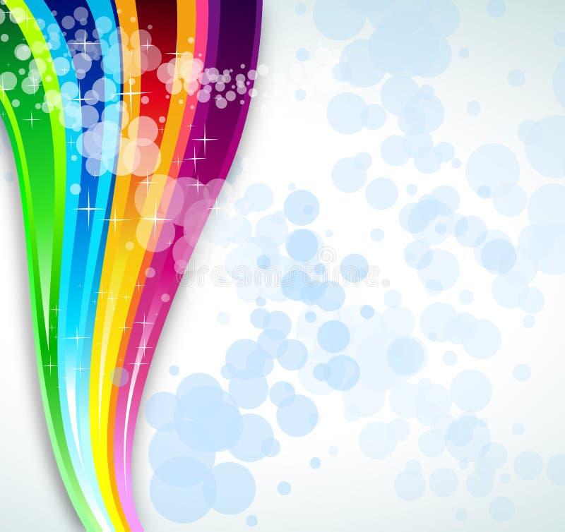Fundo do espectro do arco-íris para o folheto ou os insectos