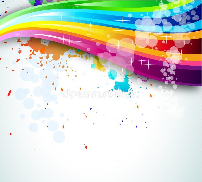Fundo do espectro do arco-íris para o folheto ou os insectos ilustração royalty free
