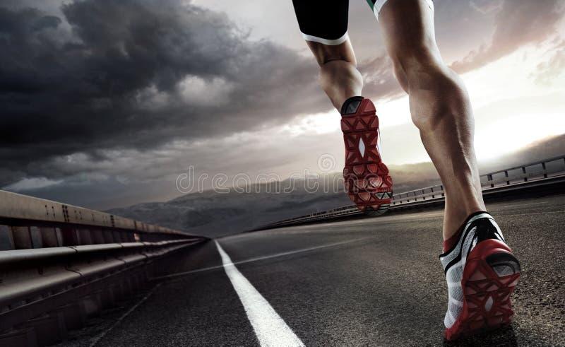 Fundo do esporte corredor imagens de stock