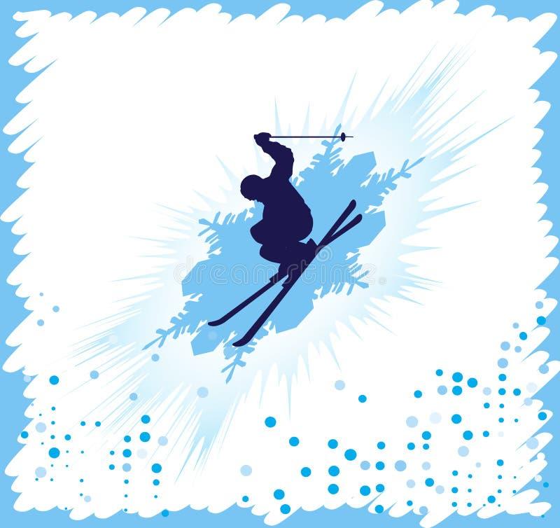 Fundo do esqui ilustração do vetor