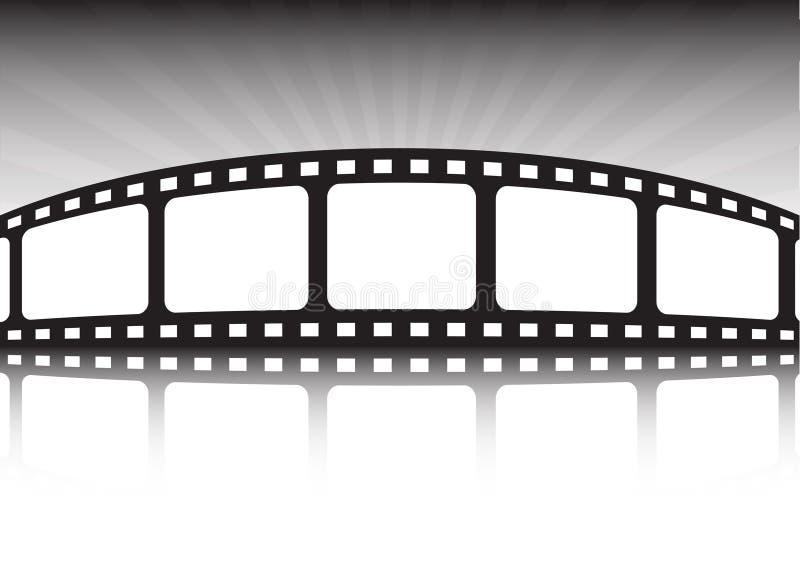 Fundo do estilo do cinema ilustração stock