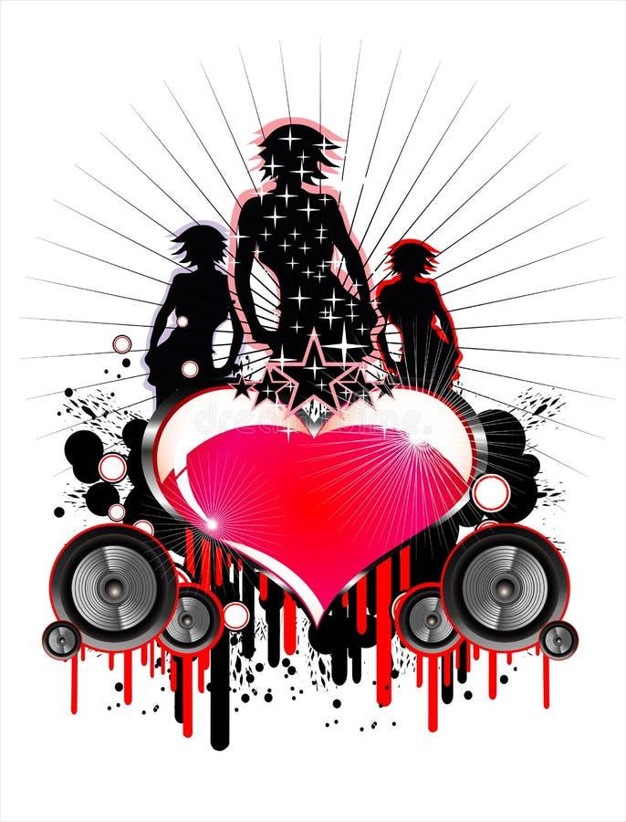 Fundo do evento da música ilustração do vetor