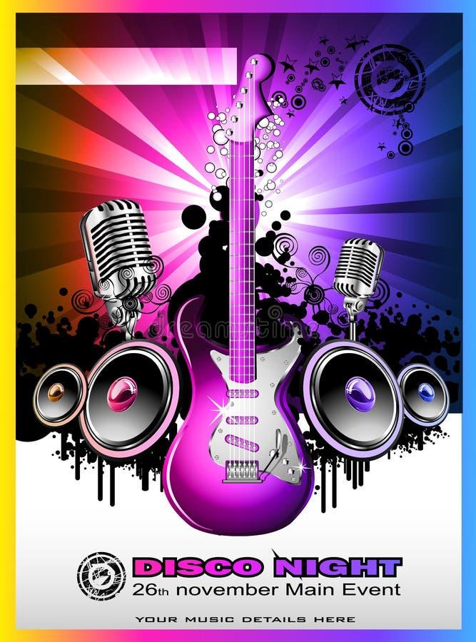 Fundo do evento da música de Colorul ilustração stock