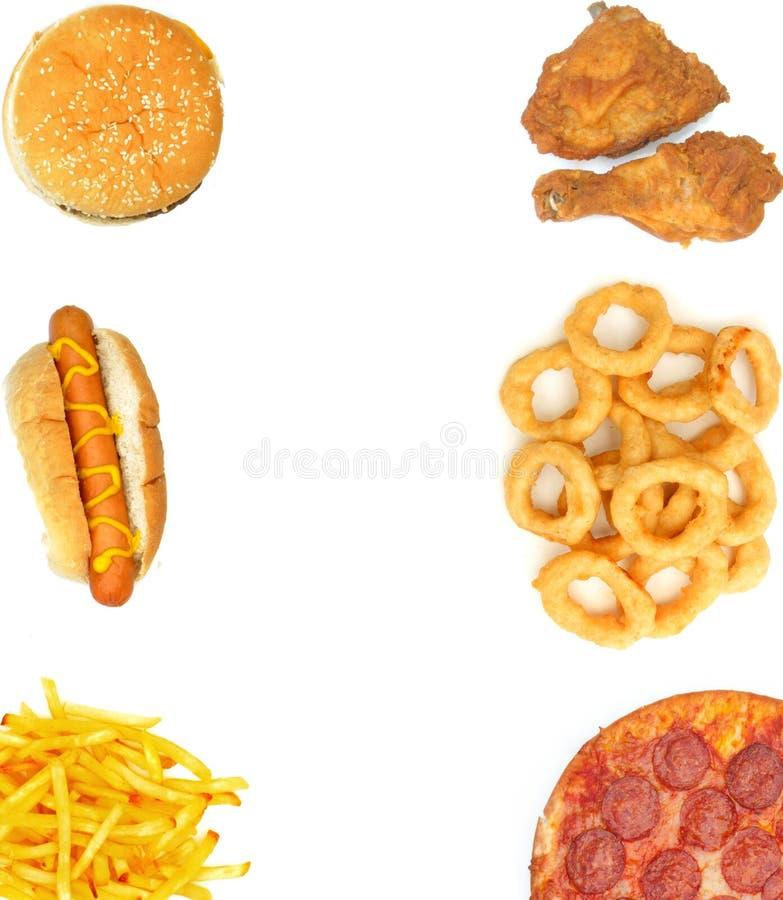 Fundo do fast food fotos de stock royalty free