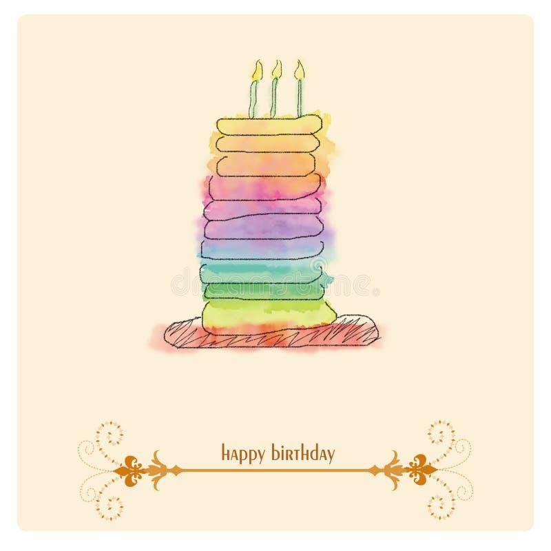 Fundo do feliz aniversario ilustração do vetor