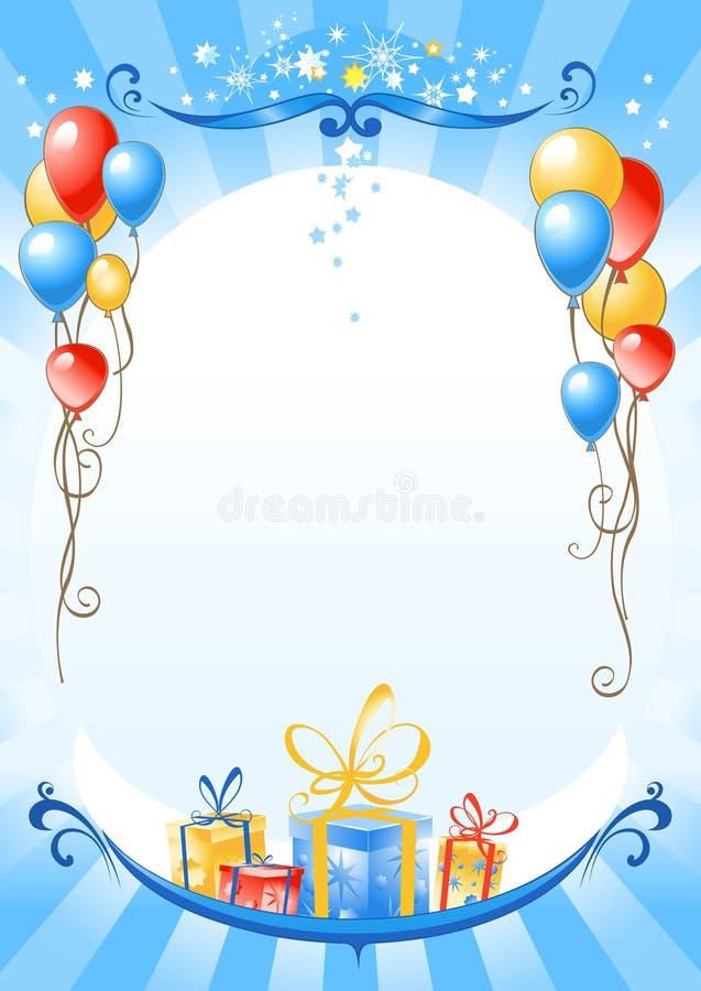 Fundo do feliz aniversario ilustração royalty free