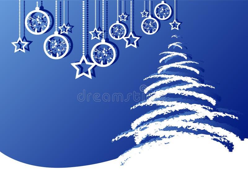Fundo do Feliz Natal ilustração royalty free