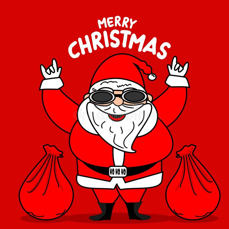 Fundo do Feliz Natal criativo ilustração stock