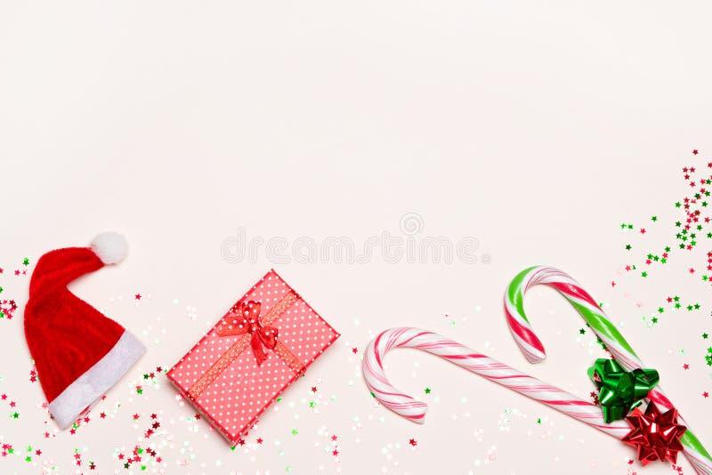 Fundo do Feliz Natal e do ano novo feliz fotografia de stock