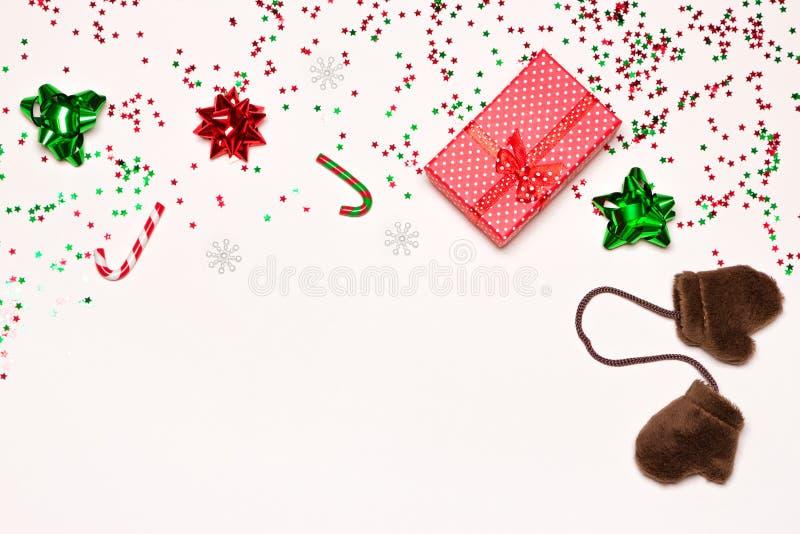 Fundo do Feliz Natal e do ano novo feliz foto de stock royalty free