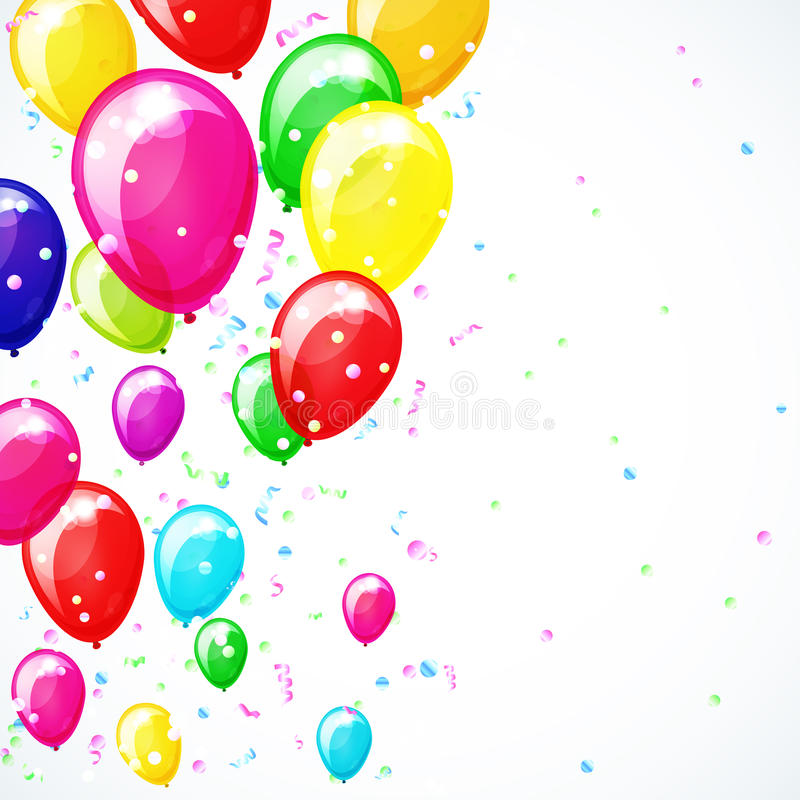 Fundo do feriado com balões. ilustração do vetor