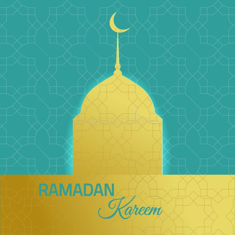 Fundo do feriado do kareeem da ramadã com mesquita dourada fotos de stock